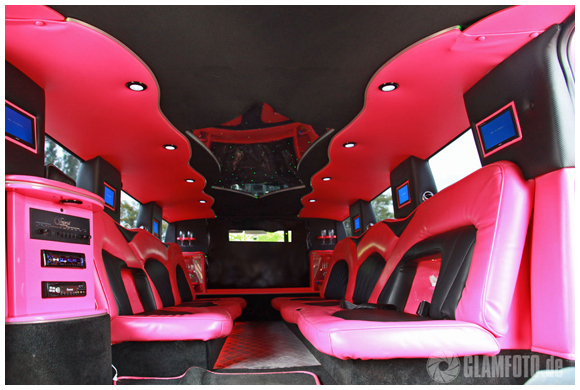 Hummer H2 Stretchlimo in PINK